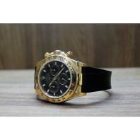 PRE-OWNED Rolex Daytona Oyster Perpetual 18K Chrono Black 116518