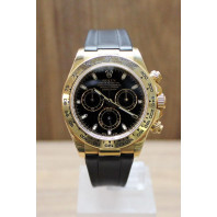 PRE-OWNED Rolex Daytona Oyster Perpetual 18K Chrono Black 116518