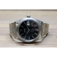 PRE-OWNED Rolex Datejust Oyster Precision black & steel ref. 6694
