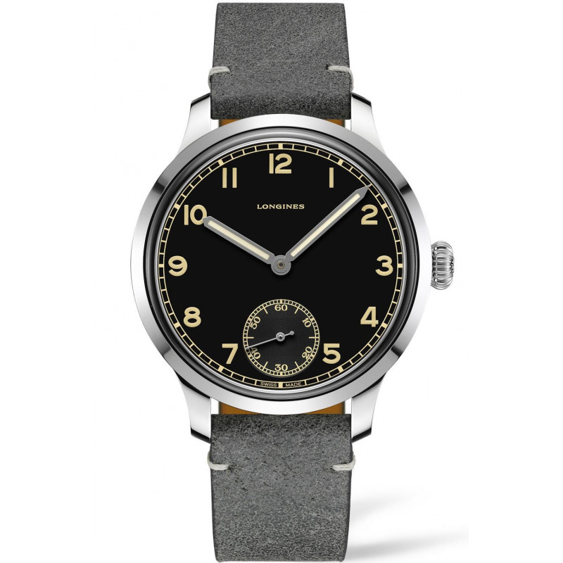 Longines - Heritage Military 1938 Ltd Black & Leather strap L28264532