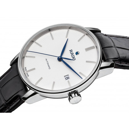 Rado - Coupole Classic 38mm Automatic Gent's Silver & Leather Strap R22860045