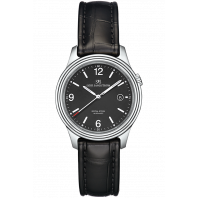 Sjöö Sandström - Royal Steel Classic Men's Black & Leather Strap 41mm 008690