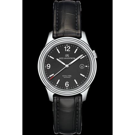 Sjöö Sandström - Royal Steel Classic Men's Black & Leather Strap 41mm 008690