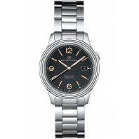 Sjöö Sandström - Royal Steel Classic 41mm Men's Black & Rose gold Index, Steel bracelet 009048