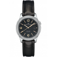 Sjöö Sandström - Royal Steel Classic 41mm Men's Black & Rose gold Index, Alligator Strap 009024