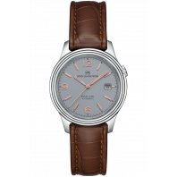 Sjöö Sandström - Royal Steel Classic 41mm Men's Grey & Rose gold Index, Alligator Strap 009147