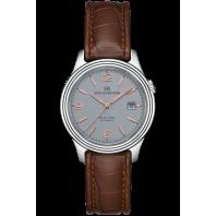 Sjöö Sandström - Royal Steel Classic 41mm Grey, Rose Gold Index & Alligator Strap 009147