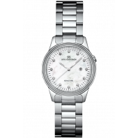 Sjöö Sandström - Royal Steel Classic 32mm Lady's Mother-of-Pearl & Steel 12 Diamonds 007266