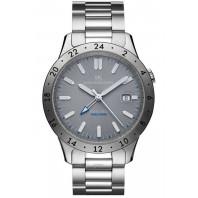 Sjöö Sandström - Royal Steel Worldtimer 41mm Grey Dial & Steel Bracelet 020036