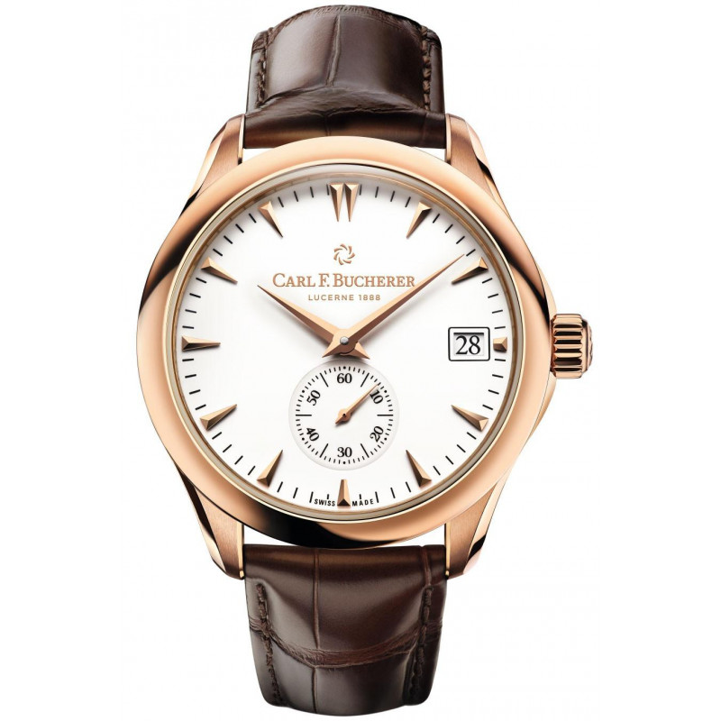 Carl F. Bucherer - Manero Peripheral Chronometer In-House Automatic Men's Watch 18K Rose gold & White 00.10917.03.23.01