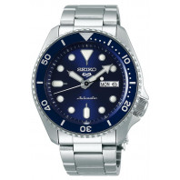 Seiko - 5 Sports 43mm Automatic Blue & Steel Divers watch SRPD51K1