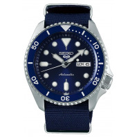 Seiko - 5 Sports 42.5mm Automatic Blue & Nato strap Divers watch SRPD51K2