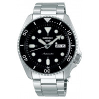 Seiko - 5 Sports 42.5mm Automatic Black & Steel Divers watch SRPD55K1