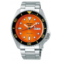 Seiko - 5 Sports 42.5mm Automatic Orange & Steel Divers watch SRPD59K1