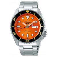 Seiko - 5 Sports 42.5mm Automatic Orange & Steel Divers watch SRPD59K1