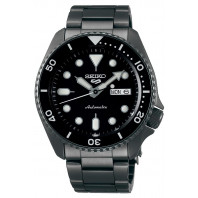 Seiko - 5 Sports 42.5mm Automatic Black & Hard Coated Steel SRPD65K1
