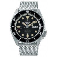 Seiko - 5 Sports 42.5mm Automatic Black & Mesh Bracelet SRPD73K1