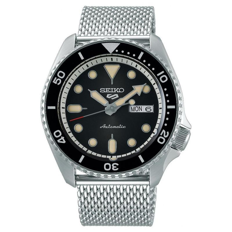 Seiko - 5 Sports 42.5mm Automatic Black & Mesh Bracelet SRPD73K1