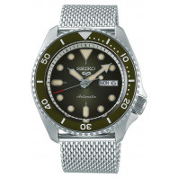 Seiko - 5 Sports 42.5mm Automatic Green & Mesh Bracelet SRPD75K1