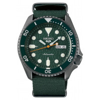 Seiko - 5 Sports 42.5mm Automatic Green & Nato Strap SRPD77K1