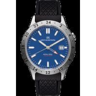 Sjöö Sandström - Royal Steel Worldtimer 41mm Blue Dial & Rubber Strap 020791
