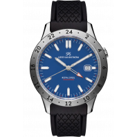 Sjöö Sandström - Royal Steel Worldtimer 41mm Blue & Rubber strap 020791
