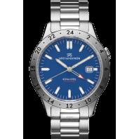 Sjöö Sandström - Royal Steel Worldtimer 41mm Blue Dial & Steel Bracelet 020807