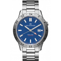 Sjöö Sandström - Royal Steel Worldtimer 41mm Blue & Steel bracelet 020807