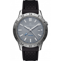 Sjöö Sandström - Royal Steel Worldtimer 41mm Grey & Rubber strap 020029