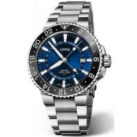 Oris - Aquis GMT Date 43.5mm Blå & Stållänk 798 7754 4135-07 8 24 05PEB