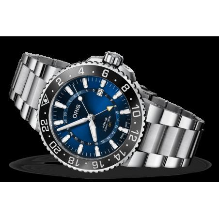 Oris - Aquis GMT Date 43.5mm Blue & Bracelet 798 7754 4135-07 8 24 05PEB