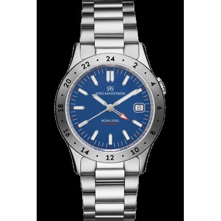 Sjöö Sandström - Royal Steel Worldtimer 36mm Blue & Bracelet 020630