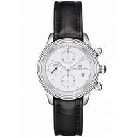Sjöö Sandström - Royal Steel Chronograph 42mm White & Alligator strap 011621