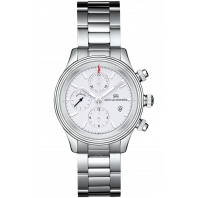 Sjöö Sandström - Royal Steel Chronograph 42mm White & Steel Bracelet 011652