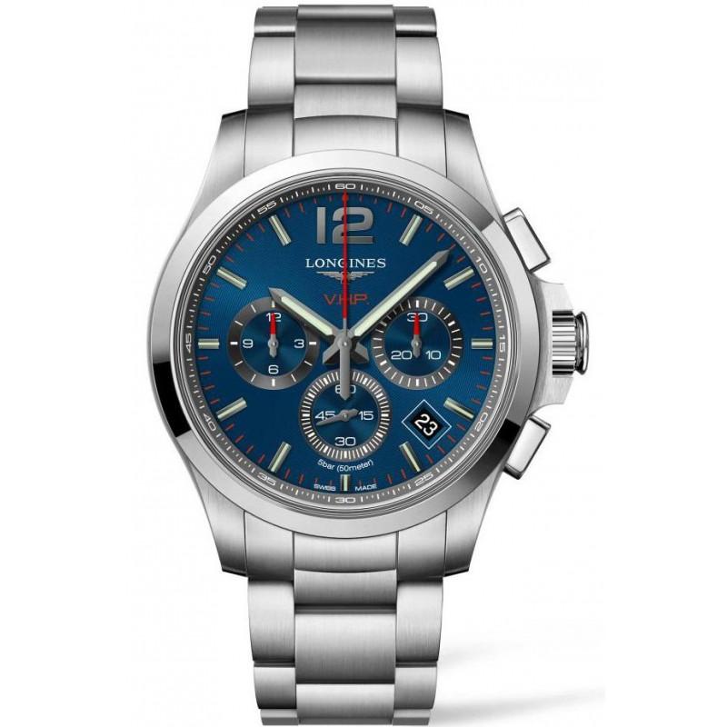 Longines Conquest V.H.P Chronograph Quartz Blue Steel Gent's Watch L37174966