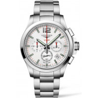 Longines - Conquest V.H.P Chronograph Quartz White & Steel Gent's Watch L37174766