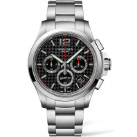Longines - Conquest V.H.P Chronograph Quartz Black Carbon & Steel L37174666