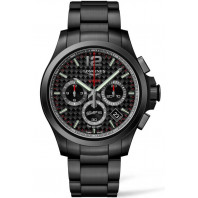 Longines - Conquest V.H.P Chronograph Quartz Black Carbon & Black PVD L37172666