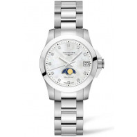 Longines - Conquest 29.5mm Månfas Diamant index, Pärlemor & Stållänk L33804876