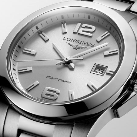 Longines - Conquest 29.5mm Quartz Sunray Silver & Steel L33764766