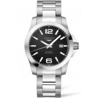 Longines - Conquest 41mm Automatic Black Dial & Steel Bracelet L37774586