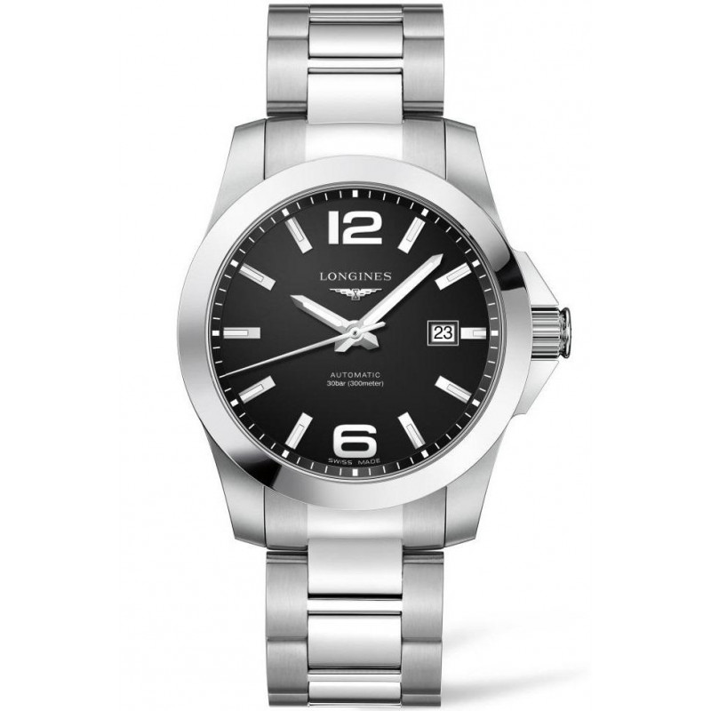 Longines - Conquest 41mm Automatic Black & Steel L37774586