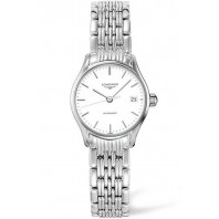 Longines Lyre 25mm White & Steel Lady's Watch,L43604126