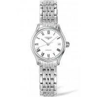 Longines Lyre 25mm White & Steel Roman numerals Lady's Watch,L43604116