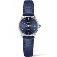 Longines Lyre 25mm Blue & Steel Leather strap Lady's Watch,L43604922