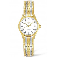 Longines - Lyre 25mm, white dial and bracelet with yellow gold PVD plated L43602117