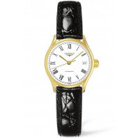 Longines Lyre 25mm Steel & Gold PVD Leather strap Lady's Watch L43602122