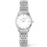 Longines Lyre 25mm Quartz White & Steel Lady's Watch,L42594126