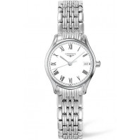 Longines Lyre 25mm Quartz White & Steel Roman numerals Lady's Watch,L42594116