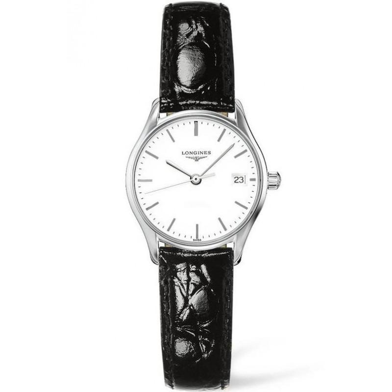 Longines Lyre 25mm Quartz White & Steel Leather strap Lady's Watch,L4259412